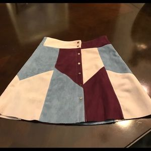 Dresses & Skirts - Button up suede feel skirt